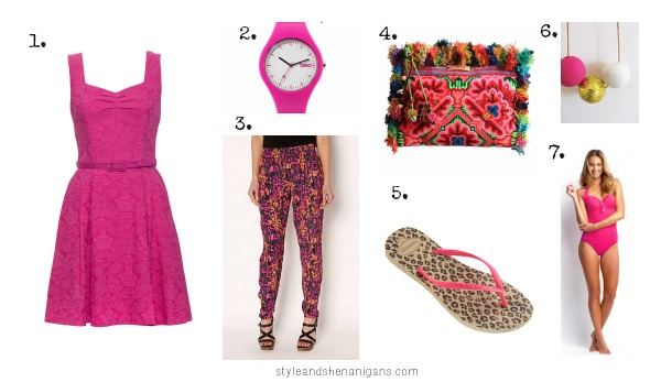 Hot Pink Summer Collage