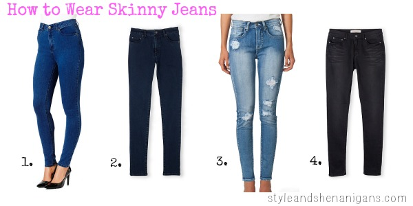 SnS How to Wear Skinny Jeans Jeans Collage