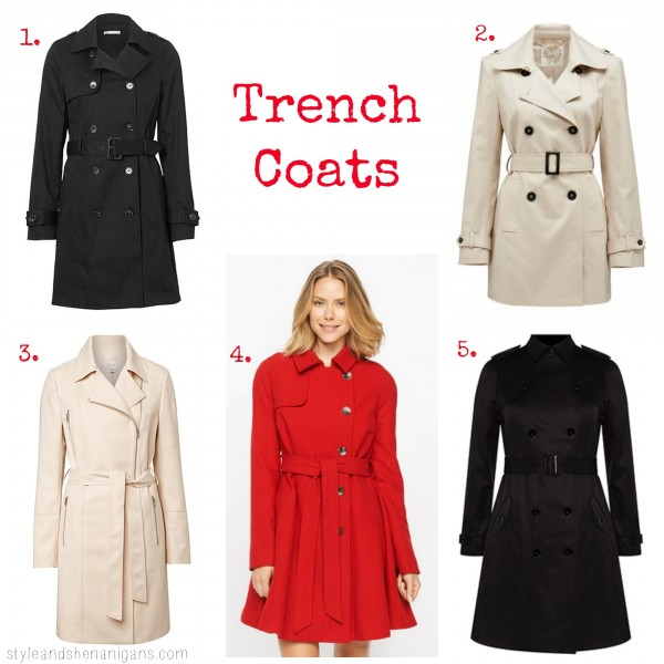 SnS Style Update Trench Coats
