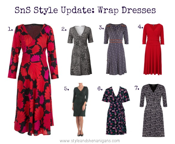 how to wear a wrap dress in winter