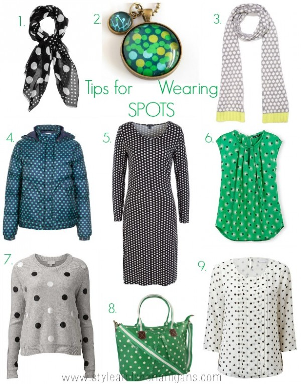 Style and Shenanigans  6 Day Print Challenge Tips for Wearing Spots Collage