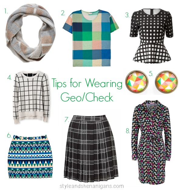 Style and Shenanigans Print Challenge Day 5 Tips for Wearing Geo & Check