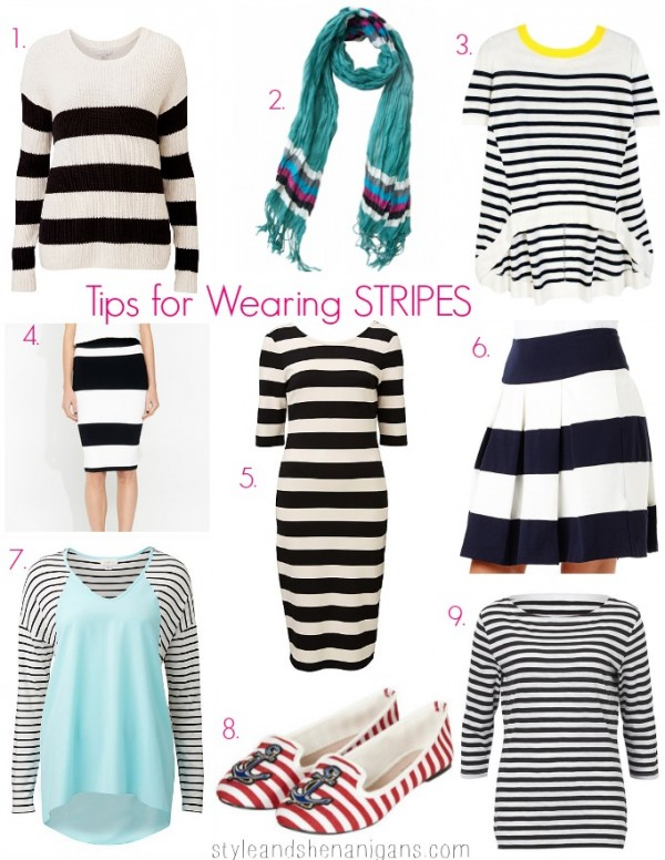 Style and Shenanigans #SnS Print Challenge Day 1 How to Wear Stripes