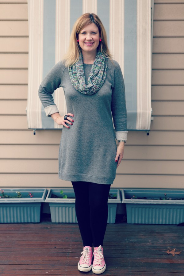 Style and Shenanigans wearing Target Quilted Dress