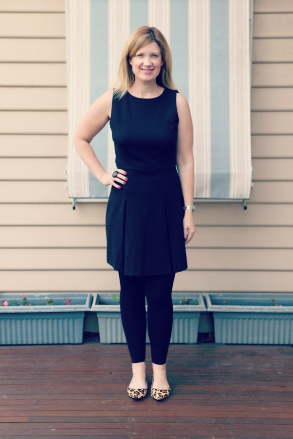 Style and Shenanigans wearing Target dress and Witchery Flats