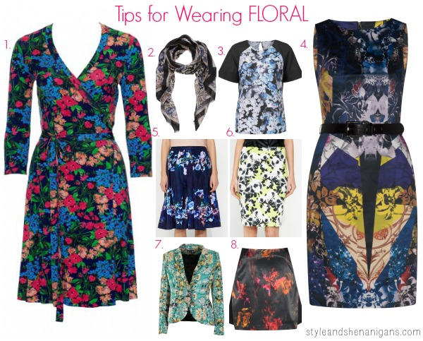 StyleandShenanigans 6 Day Print Challenge Tips for Wearing Floral
