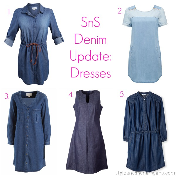 SnS Denim Update Dresses