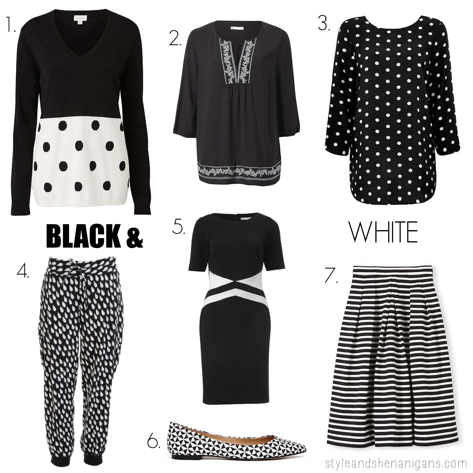 SnS Fashion Update: BLACK + WHITE - Style & Shenanigans
