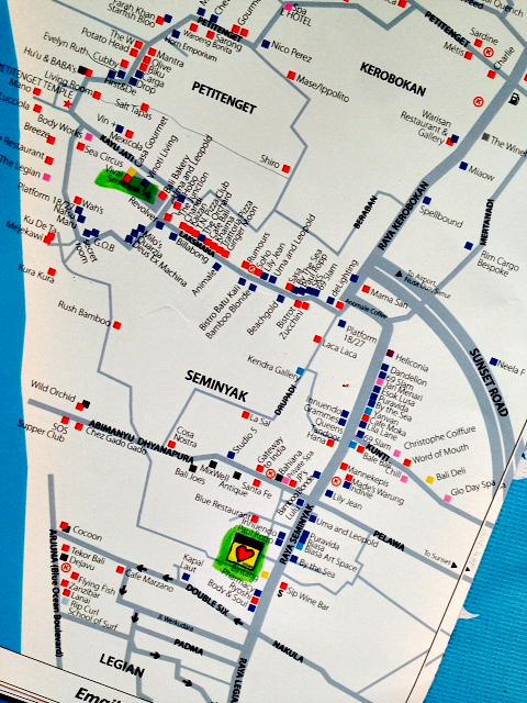 Map of Seminyak