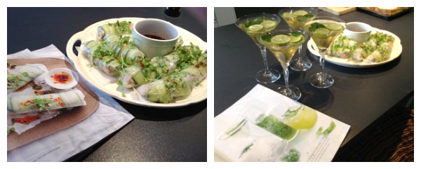 The Donna Hay Food Club Martinis and Rice Paper Rolls