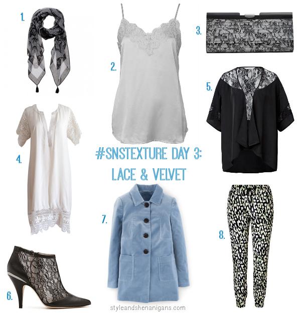 SnS Texture Challenge Day 3 Lace & Velvet