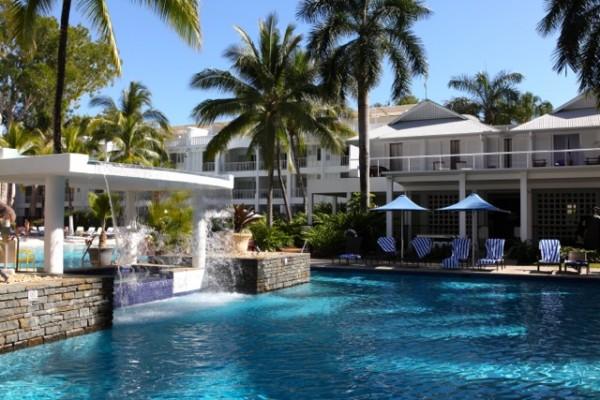 Formal Pool Side View