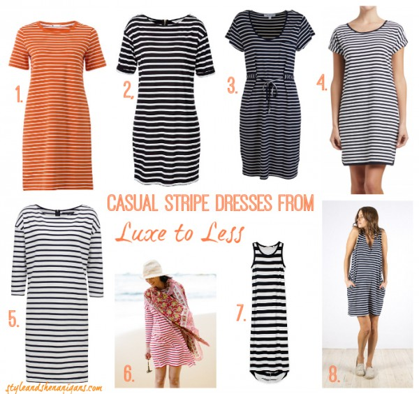 Style and Shenanigans Casual Stripe Dresses from Luxe to Less