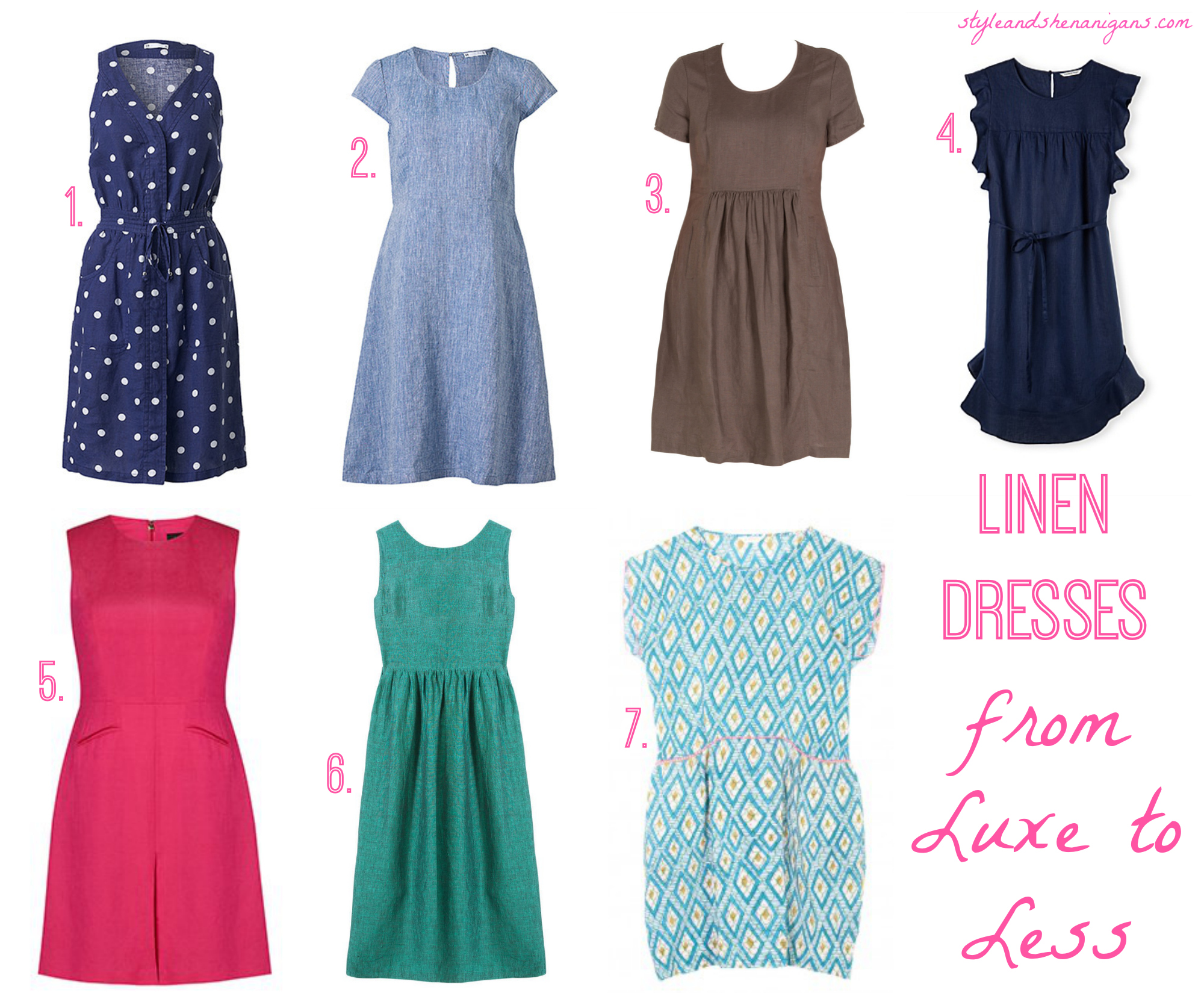 bac1e5495ec Linen Dresses  From Luxe to Less - Style   Shenanigans