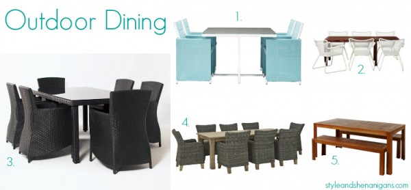 Style and Shenanigans Outdoor Entertaining - Dining