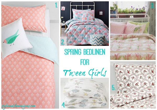 Style and Shenanigans Spring Bedlinen for Tween Girls - Modern Florals