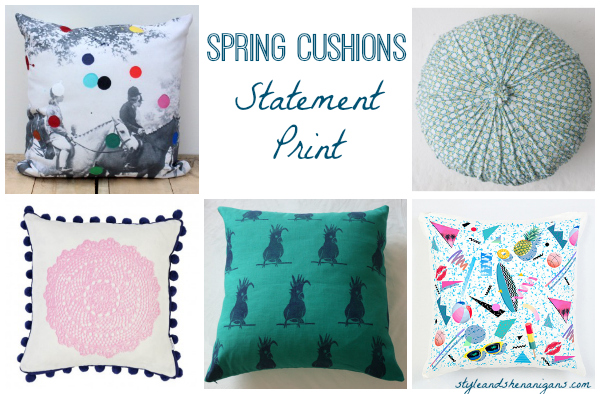 Style and Shenanigans Spring Cushions - Statement Print