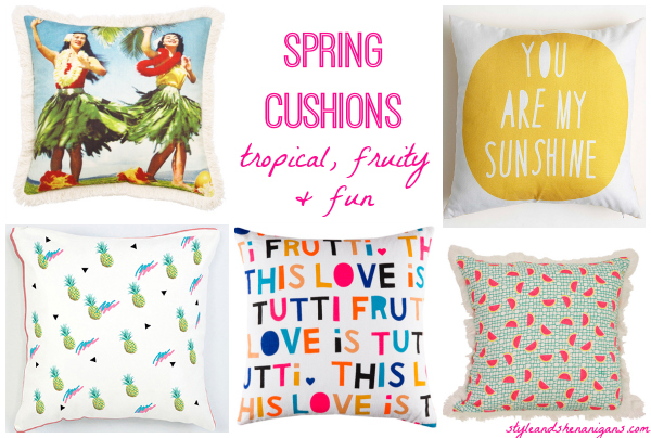 Style and Shenanigans- Spring Cushions - Tropical, Fruity & Fun