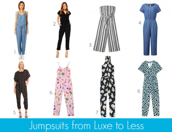 Jumpsuits from Luxe to Less