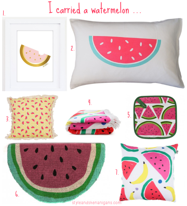 Style an Shenanigans Watermelon decor