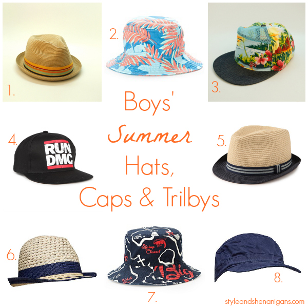 Style and Shenanigans Boys Summer Hats, Caps & Trilbys