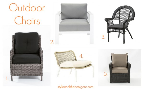 Style and Shenanigans Outdoor Chairs
