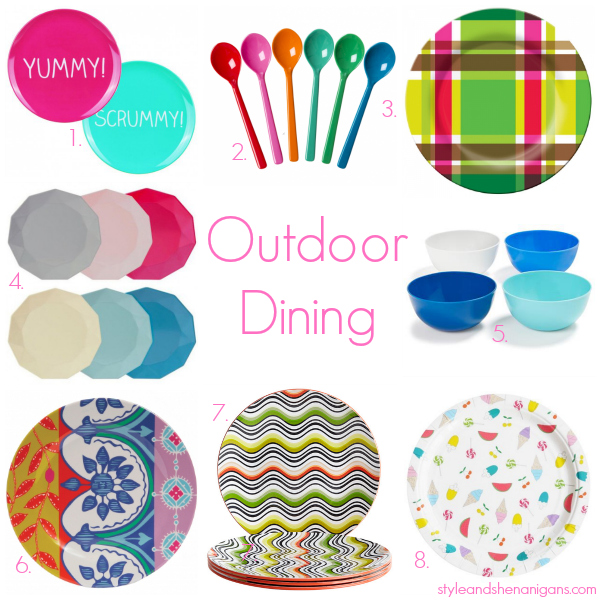Style and Shenanigans Outdoor Dining- Table Ware