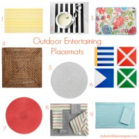 Outdoor Entertaining: Placemats, Tablecloths and Napkins