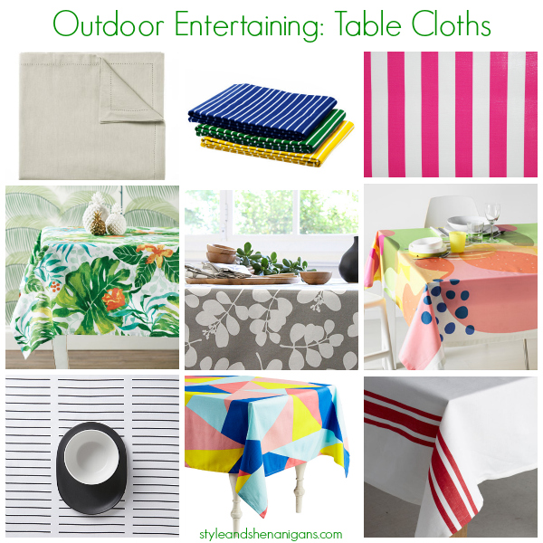 Style and Shenanigans Outdoor Entertaining - Table Cloths
