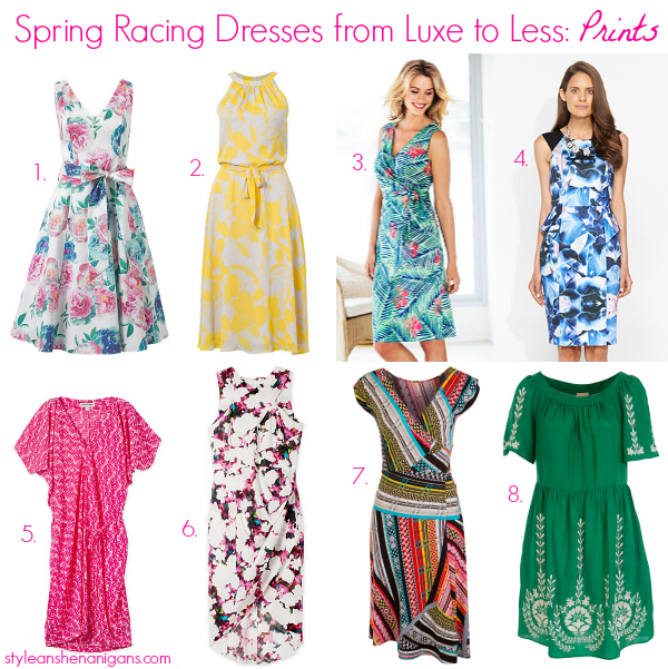 Style and Shenanigans- Spring Racing Dresses from Luxe to Less