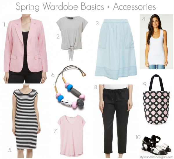Style and Shenanigans Spring Wardrobe Basics + Accessories