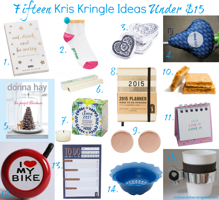 15 kris kringle ideas under 15 for christmas 2014