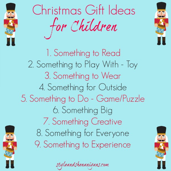 Style and Shenanigans Christmas Gift Ideas for Children - Graphic