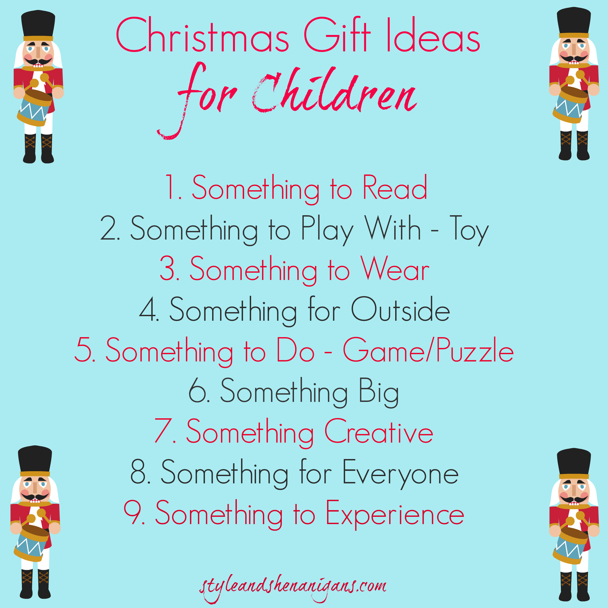 Christmas Gift Ideas for Kids Christmas 2014 Style & Shenanigans