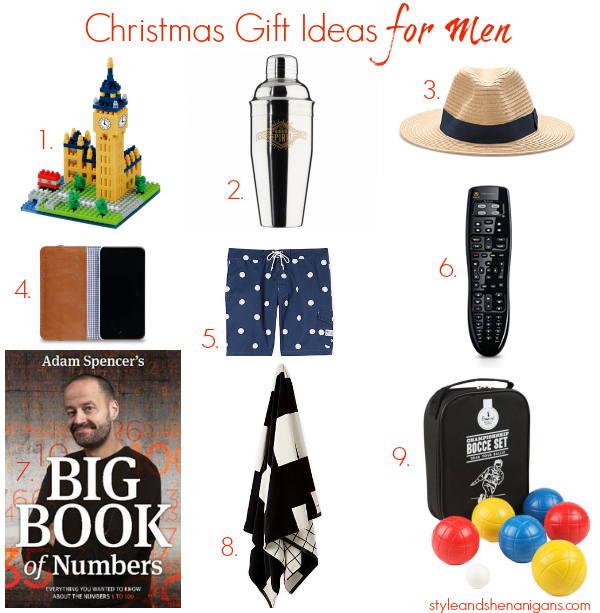 Christmas Gift Ideas for Men - Style & Shenanigans
