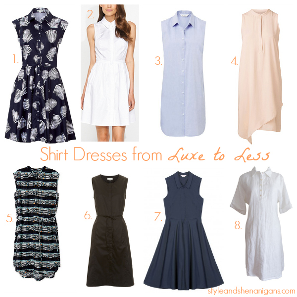 Style and Shenanigans Shirt Dresses from Luxe to Less
