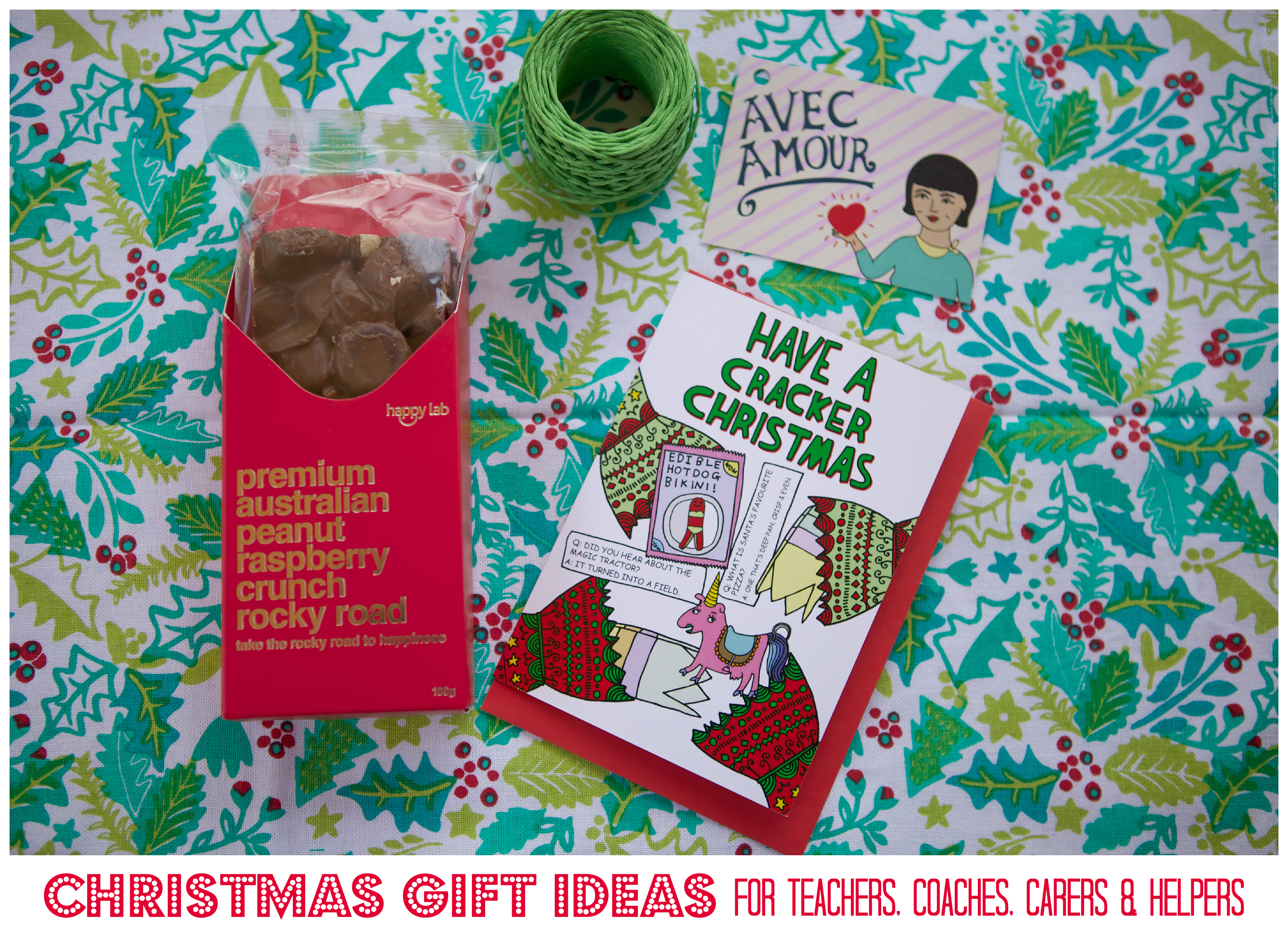 christmas gift ideas for teachers et al graphic