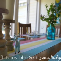 How to Create a Fab Christmas Table Setting on a Budget
