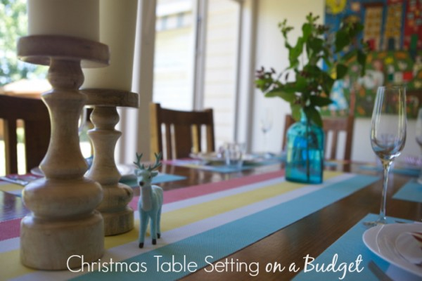Christmas Table Setting on a Budget Graphic