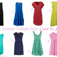 Easy Summer Dresses from luxe to less