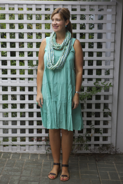 Style and Shenanigans wearing Firefly dress