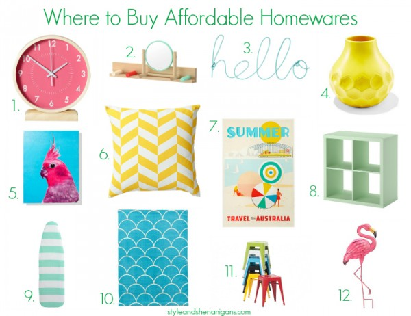 Where to Buy Affordable Homewares Colour