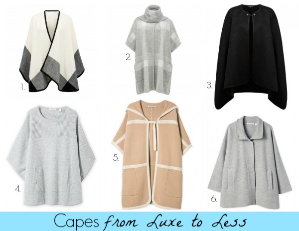 Capes from Luxe to Less
