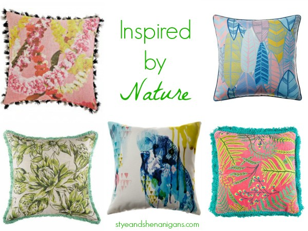 Cushions Inspired by Nature