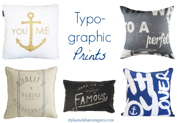 Cushions -typo prints