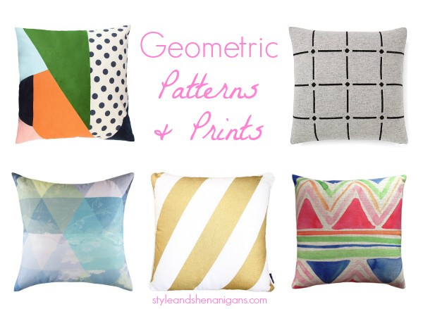 Geo Cushions Patterns and Prints