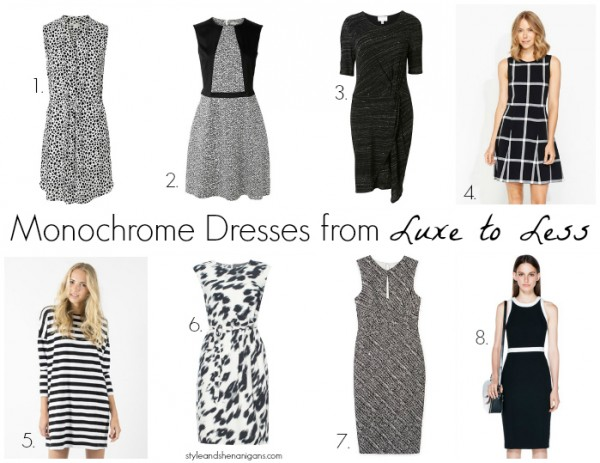 Monochrome Dresses from Luxe to Less