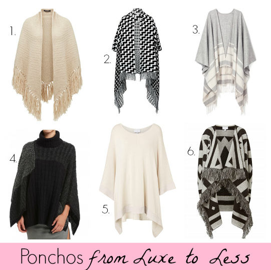 Ponchos from Luxe to Less