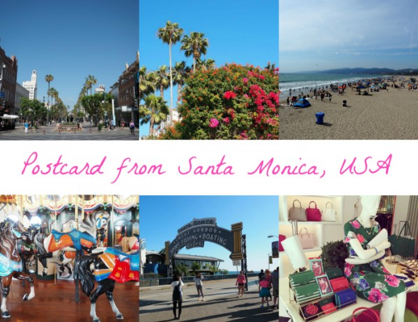 Postcard from Santa Monica, USA