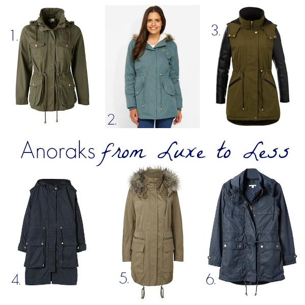 Anoraks from luxe to less